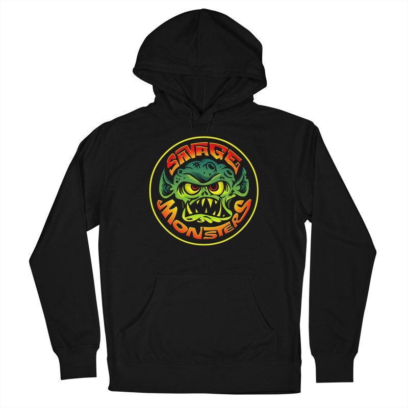 Savage Monsters Radicalized Logo Men's French Terry Pullover Hoody by SavageMonsters's Artist Shop