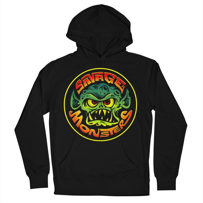 Savage Monsters Radicalized Logo Women's French Terry Pullover Hoody by SavageMonsters's Artist Shop