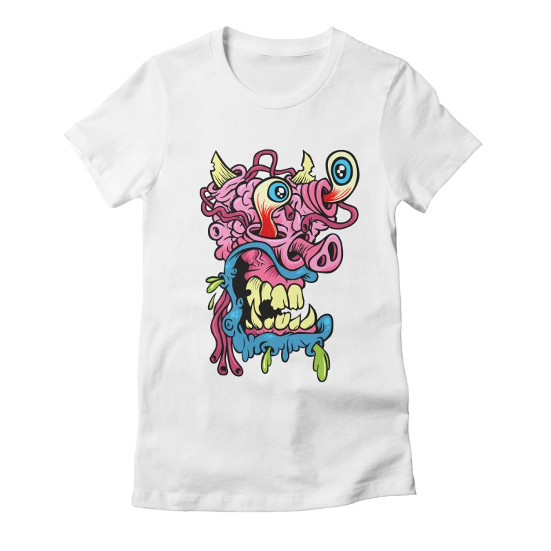 Gnarly Charley Women's Fitted T-Shirt by SavageMonsters's Artist Shop