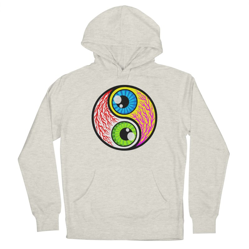 Yin Yang Eyeballs Men's French Terry Pullover Hoody by SavageMonsters's Artist Shop