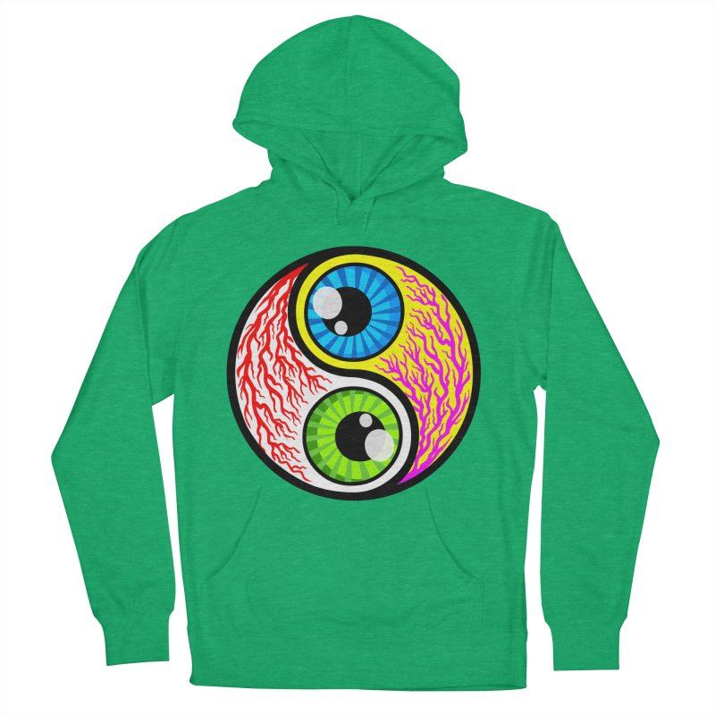 Yin Yang Eyeballs Women's French Terry Pullover Hoody by SavageMonsters's Artist Shop