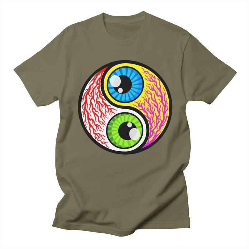 Yin Yang Eyeballs Men's T-shirt by SavageMonsters's Artist Shop