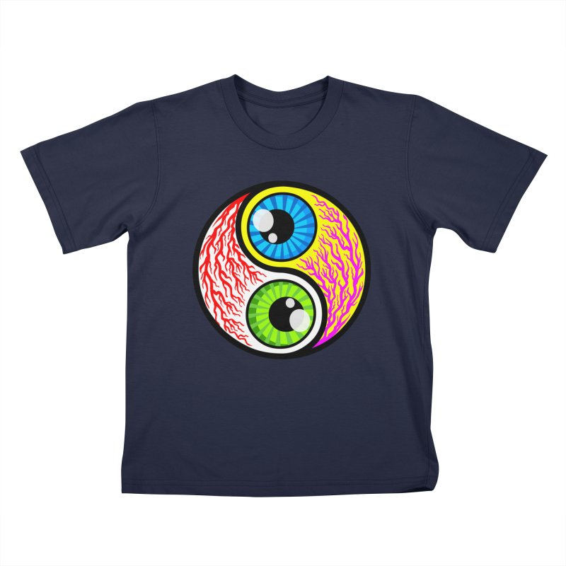 Yin Yang Eyeballs Kids Toddler T-Shirt by SavageMonsters's Artist Shop