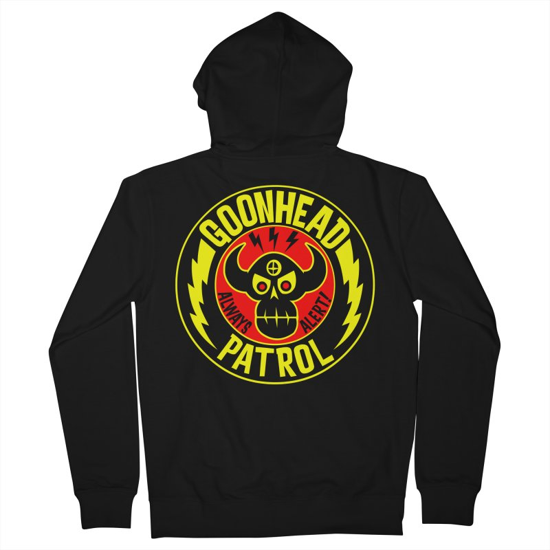 Goonhead Patrol Men's Zip-Up Hoody by SavageMonsters's Artist Shop