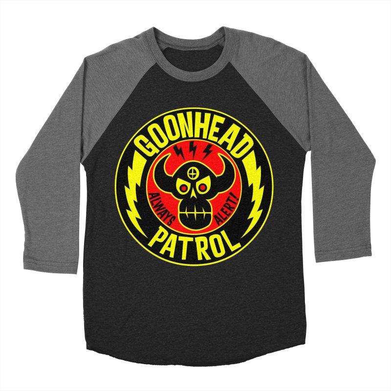 Goonhead Patrol Women's Baseball Triblend T-Shirt by SavageMonsters's Artist Shop