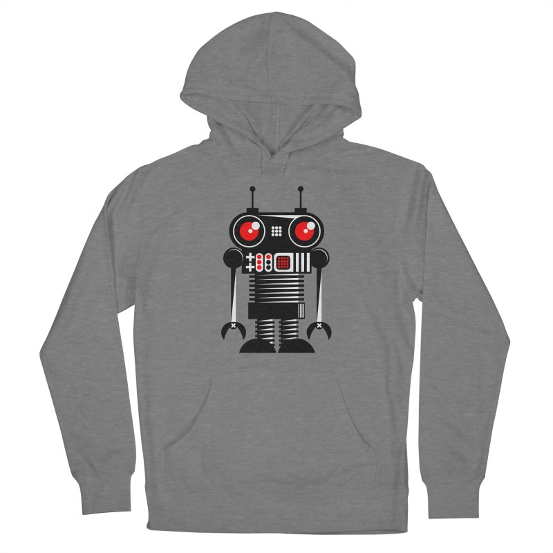 Robot 001 Men's French Terry Pullover Hoody by SavageMonsters's Artist Shop