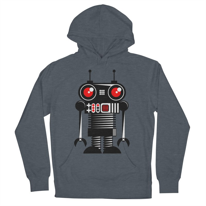 Robot 001 Women's French Terry Pullover Hoody by SavageMonsters's Artist Shop