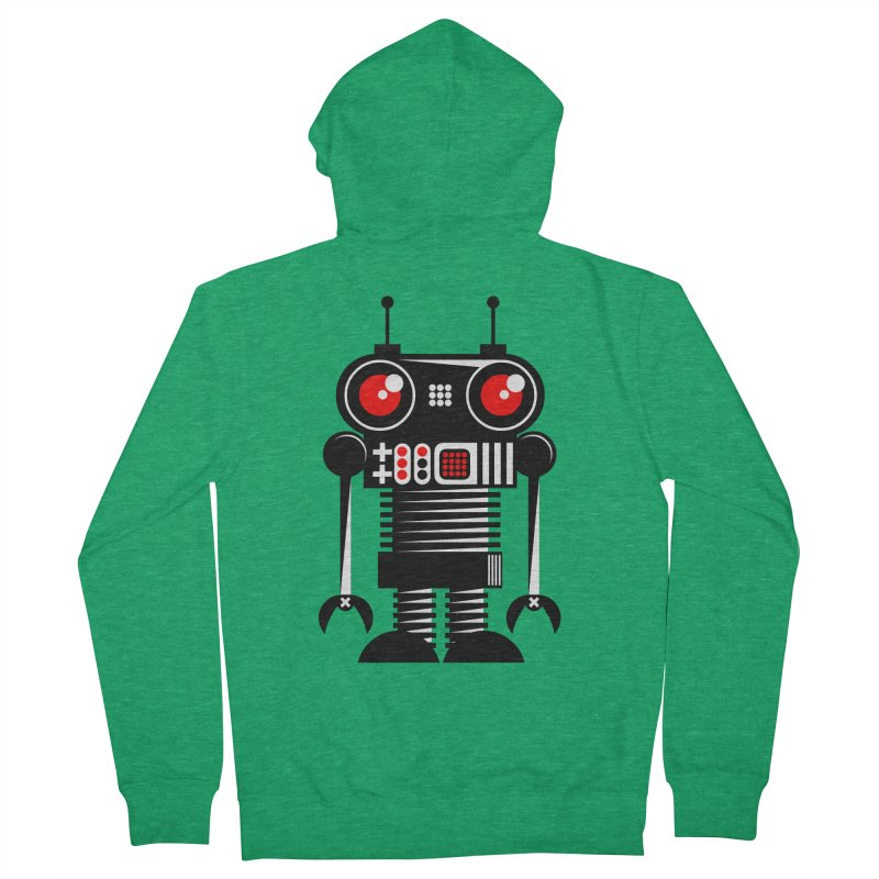 Robot 001 Men's Zip-Up Hoody by SavageMonsters's Artist Shop