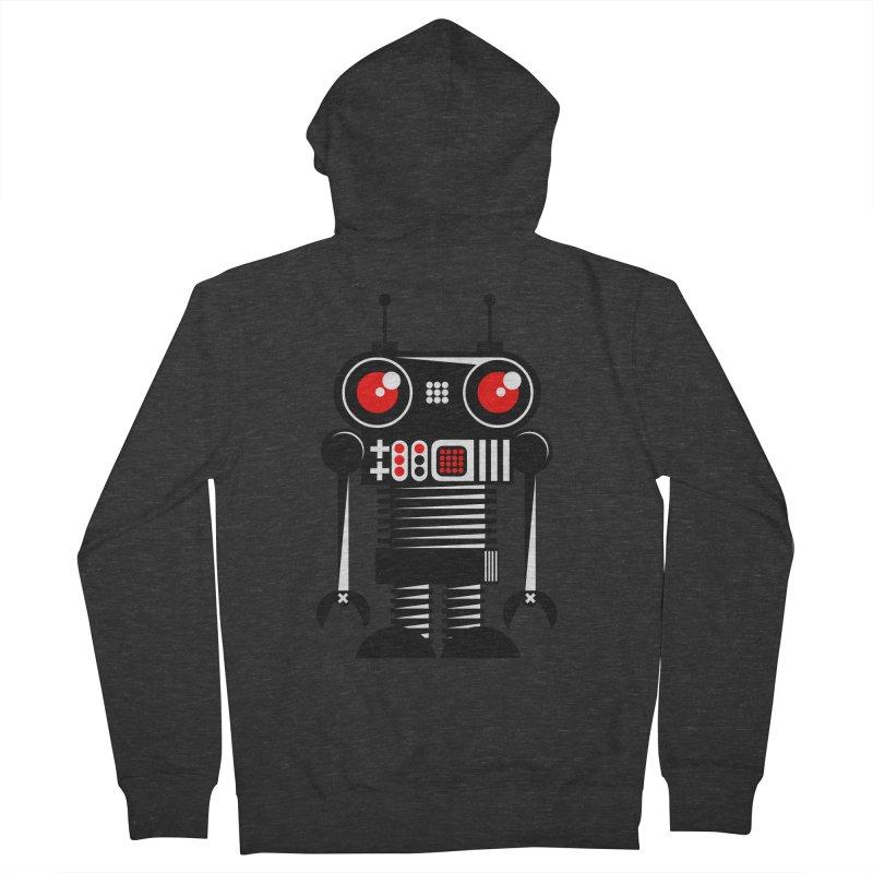 Robot 001 Men's Zip-Up Hoody by SavageMonsters's Artist Shop