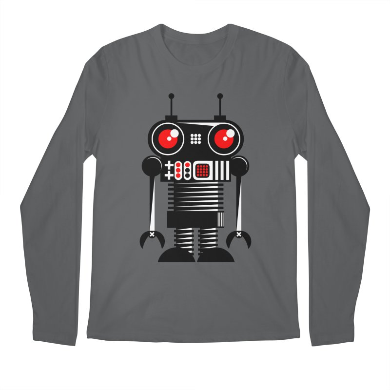 Robot 001 Men's Longsleeve T-Shirt by SavageMonsters's Artist Shop
