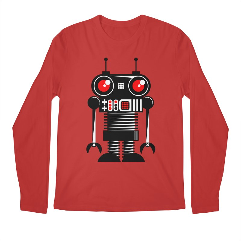 Robot 001 Men's Longsleeve T-Shirt by SavageMonsters's Artist Shop