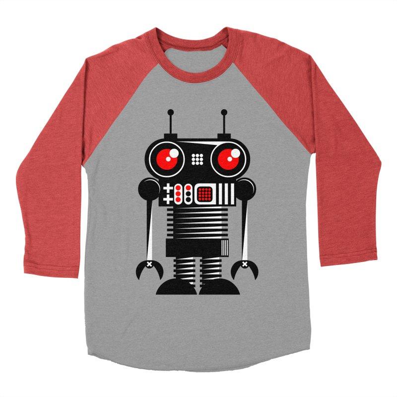 Robot 001 Women's Baseball Triblend T-Shirt by SavageMonsters's Artist Shop