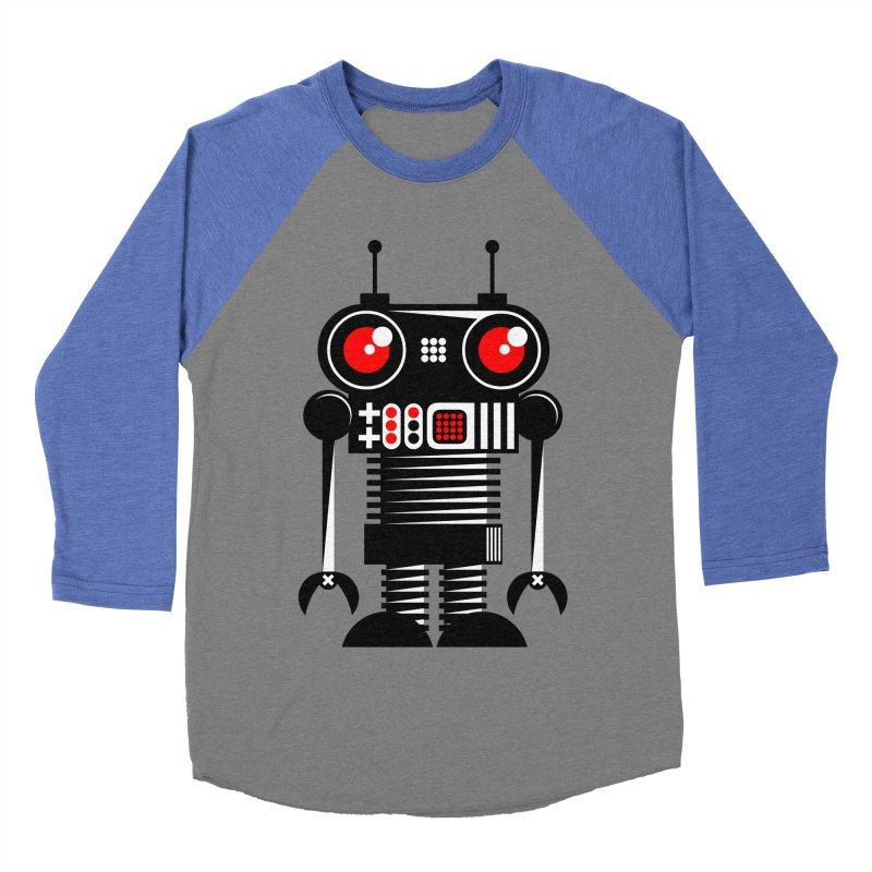 Robot 001 Men's Baseball Triblend T-Shirt by SavageMonsters's Artist Shop