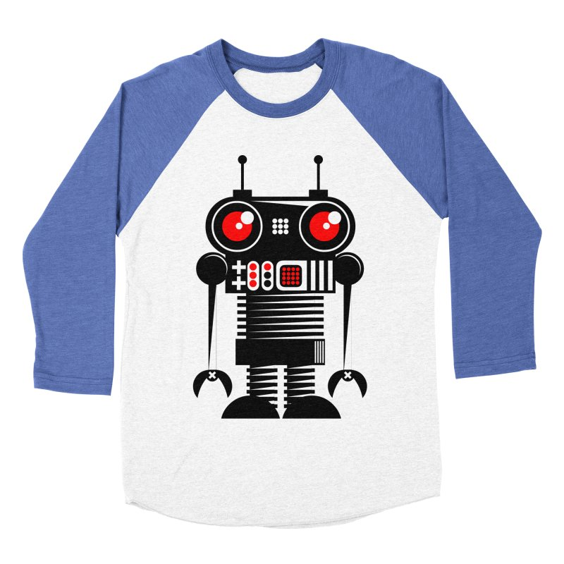 Robot 001 Men's Baseball Triblend T-Shirt by SavageMonsters's Artist Shop