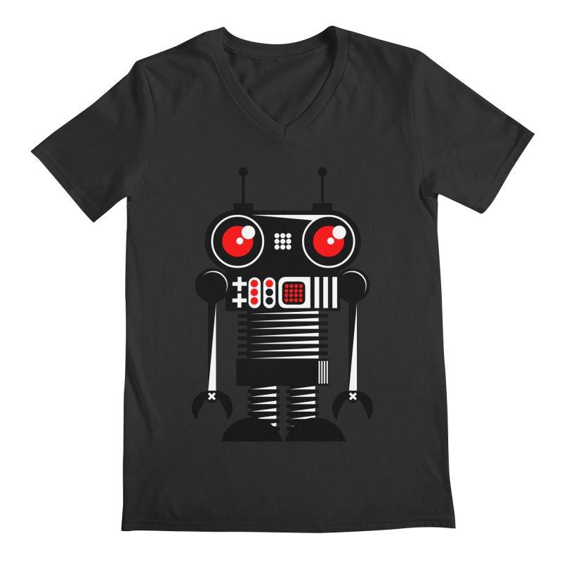 Robot 001 Men's V-Neck by SavageMonsters's Artist Shop