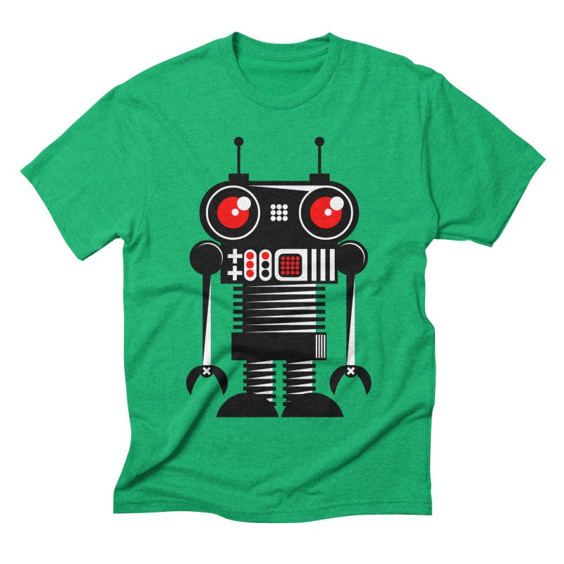 Robot 001 Men's Triblend T-shirt by SavageMonsters's Artist Shop