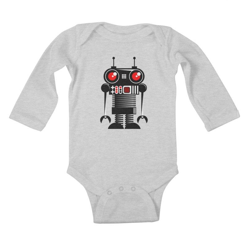 Robot 001 Kids Baby Longsleeve Bodysuit by SavageMonsters's Artist Shop
