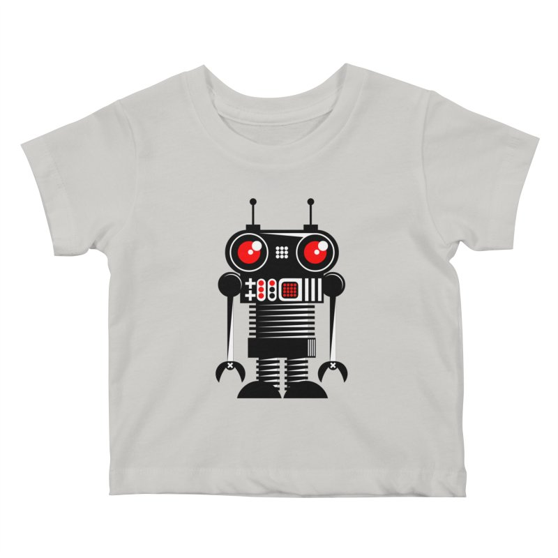 Robot 001 Kids Baby T-Shirt by SavageMonsters's Artist Shop