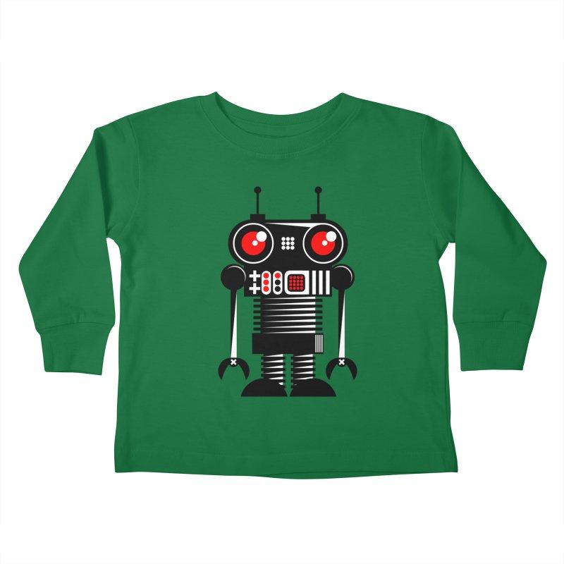 Robot 001 Kids Toddler Longsleeve T-Shirt by SavageMonsters's Artist Shop