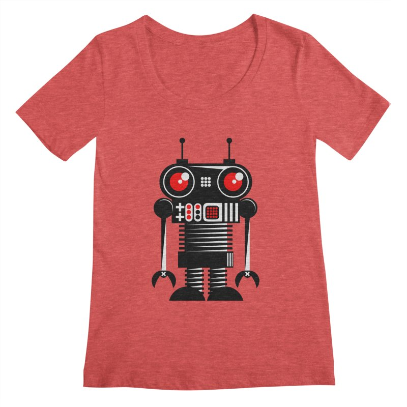 Robot 001 Women's Scoopneck by SavageMonsters's Artist Shop