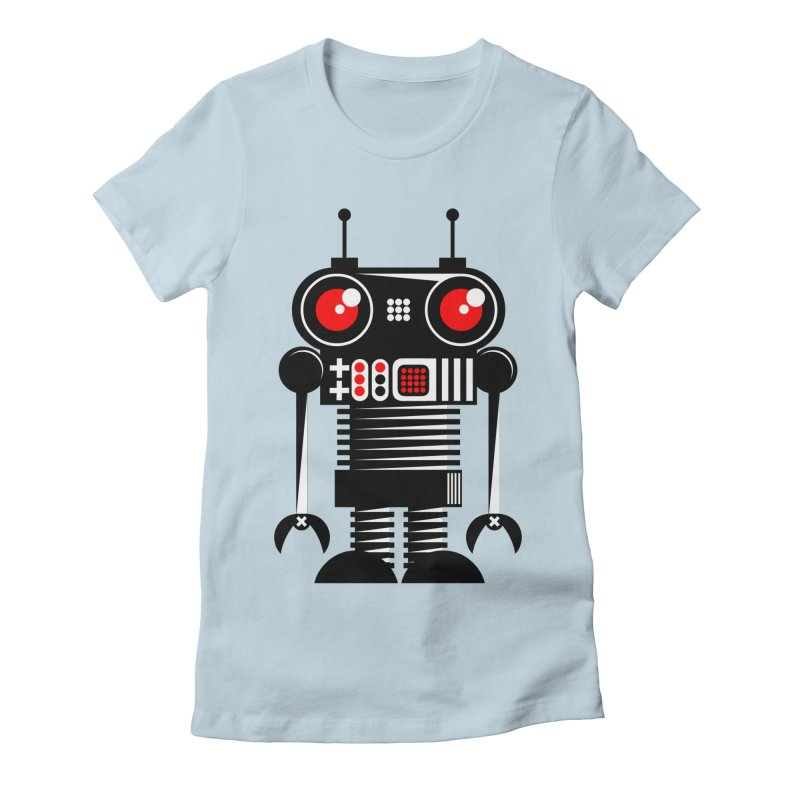 Robot 001 Women's Fitted T-Shirt by SavageMonsters's Artist Shop