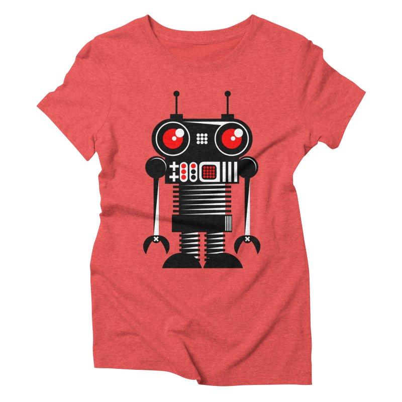 Robot 001 Women's Triblend T-shirt by SavageMonsters's Artist Shop