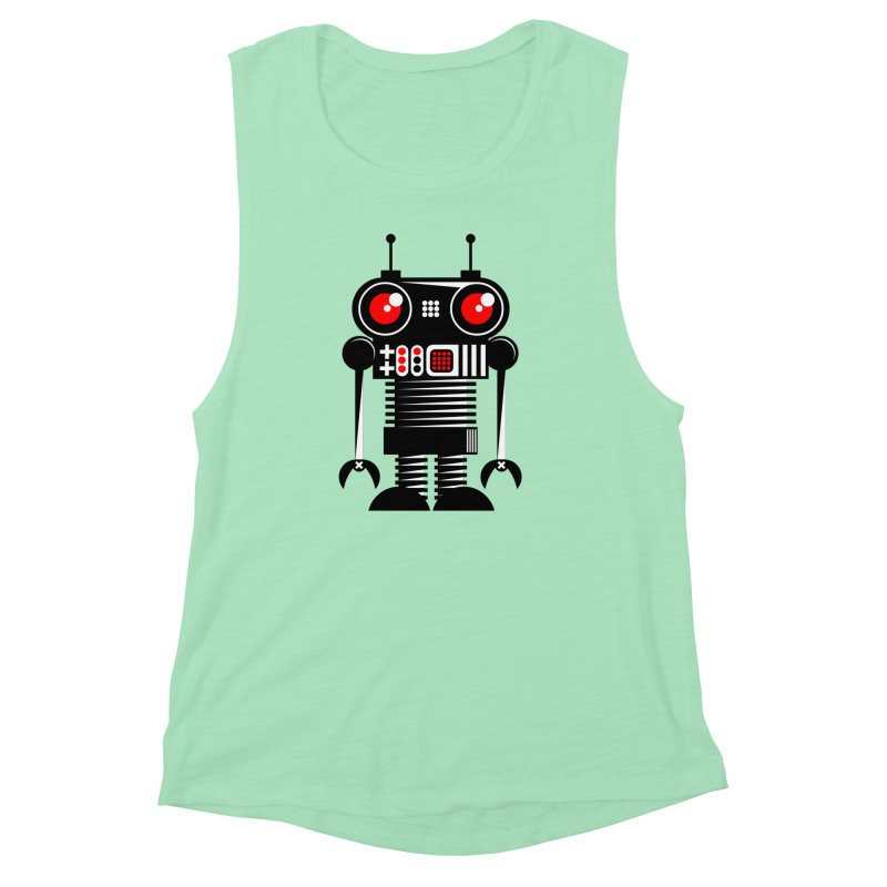 Robot 001 Women's Muscle Tank by SavageMonsters's Artist Shop