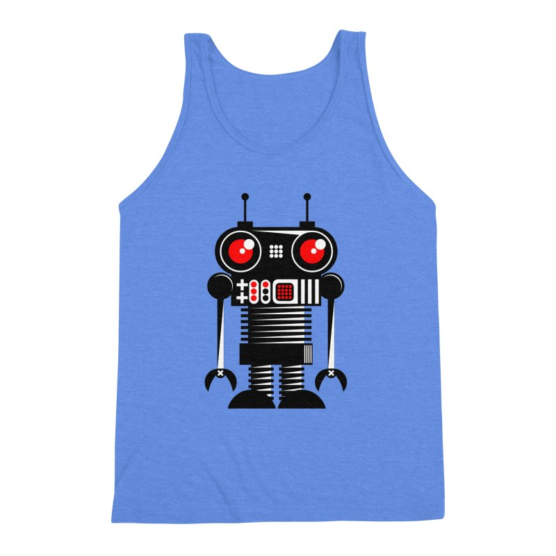 Robot 001 Men's Triblend Tank by SavageMonsters's Artist Shop