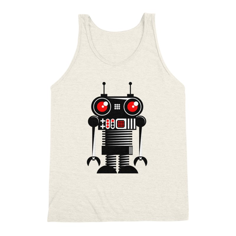 Robot 001 Men's Triblend Tank by SavageMonsters's Artist Shop