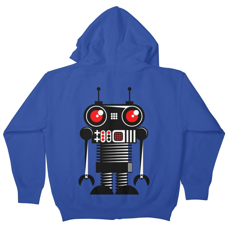 Robot 001 Kids Zip-Up Hoody by SavageMonsters's Artist Shop