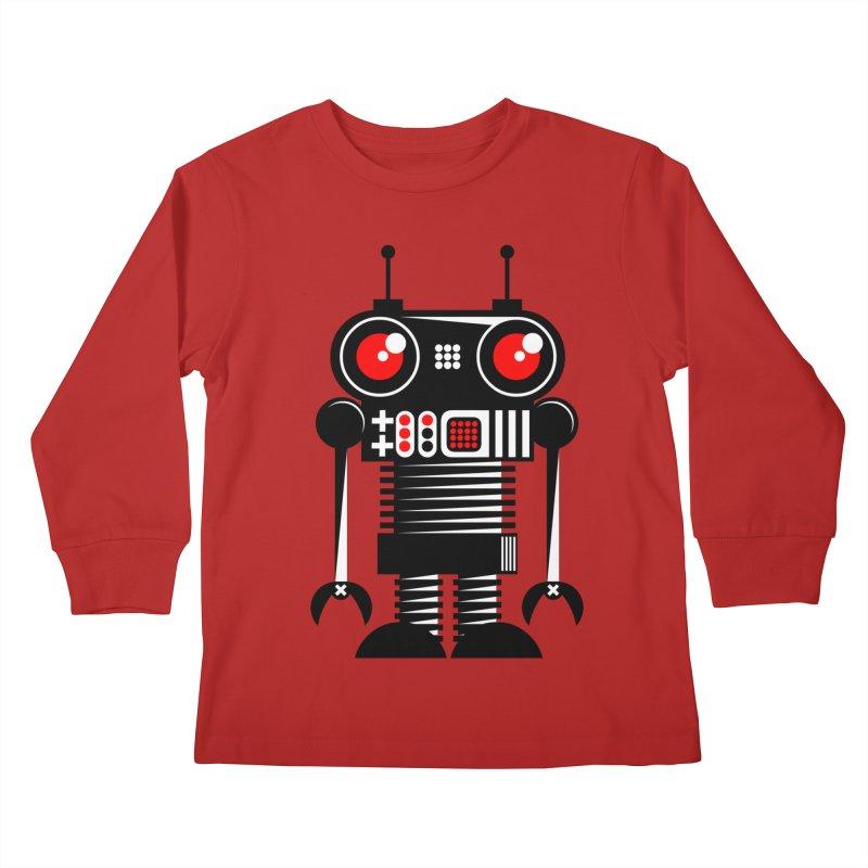 Robot 001 Kids Longsleeve T-Shirt by SavageMonsters's Artist Shop
