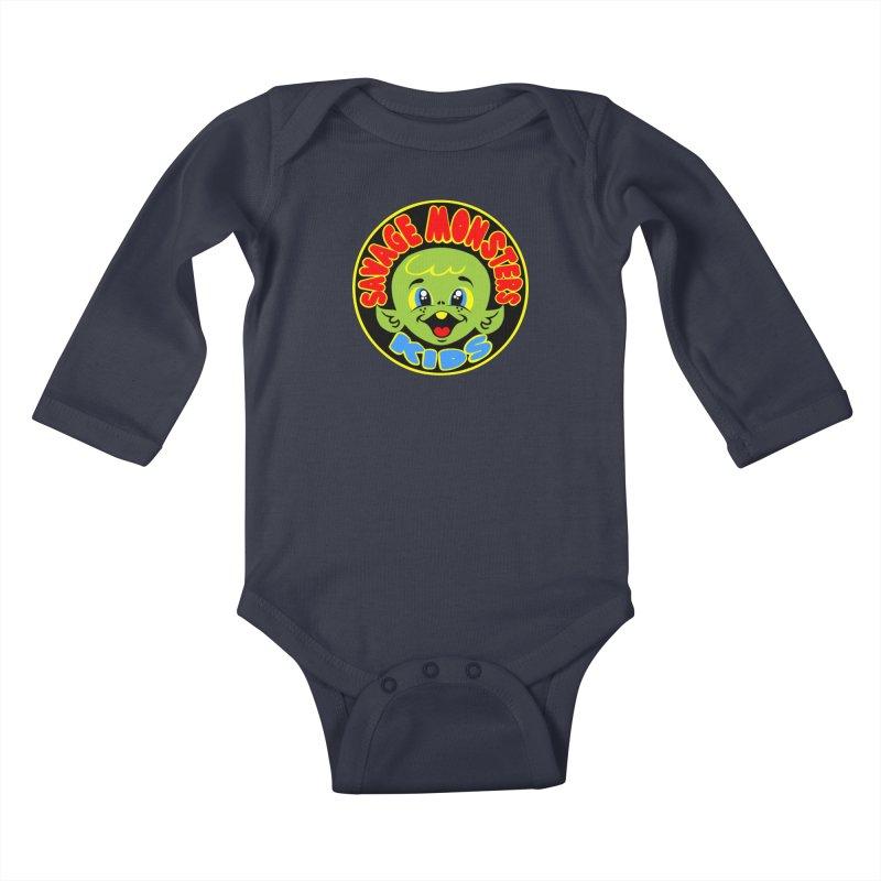 Savage Monsters Kids Logo Kids Baby Longsleeve Bodysuit by SavageMonsters's Artist Shop