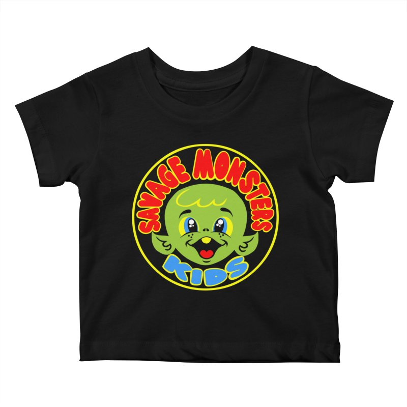 Savage Monsters Kids Logo Kids Baby T-Shirt by SavageMonsters's Artist Shop
