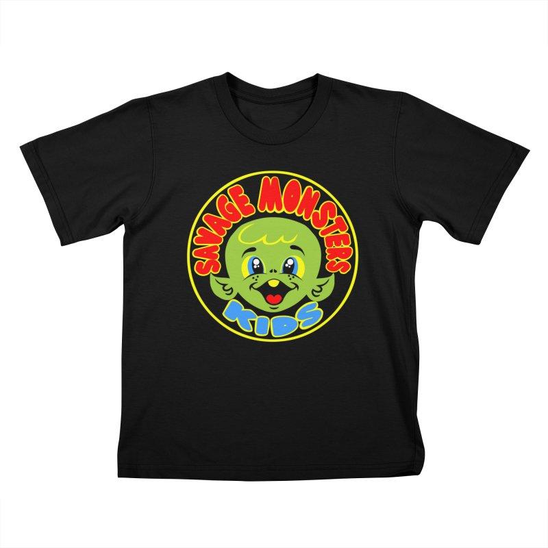 Savage Monsters Kids Logo Kids T-Shirt by SavageMonsters's Artist Shop