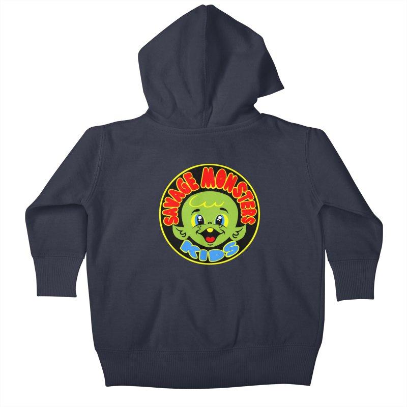 Savage Monsters Kids Logo Kids Baby Zip-Up Hoody by SavageMonsters's Artist Shop