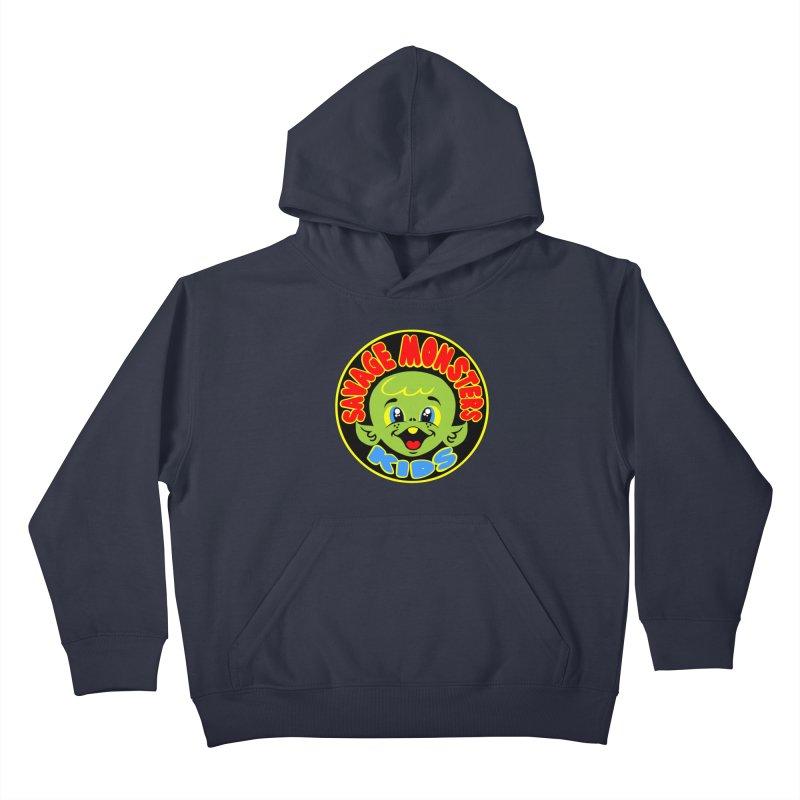 Savage Monsters Kids Logo Kids Pullover Hoody by SavageMonsters's Artist Shop