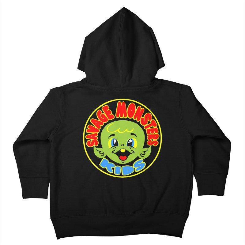 Savage Monsters Kids Logo Kids Toddler Zip-Up Hoody by SavageMonsters's Artist Shop