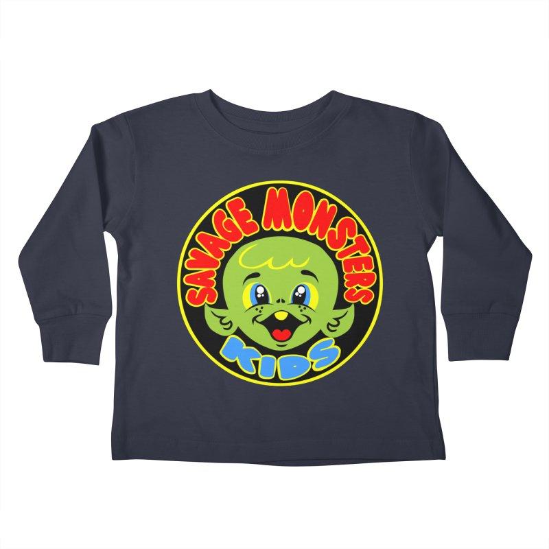 Savage Monsters Kids Logo Kids Toddler Longsleeve T-Shirt by SavageMonsters's Artist Shop