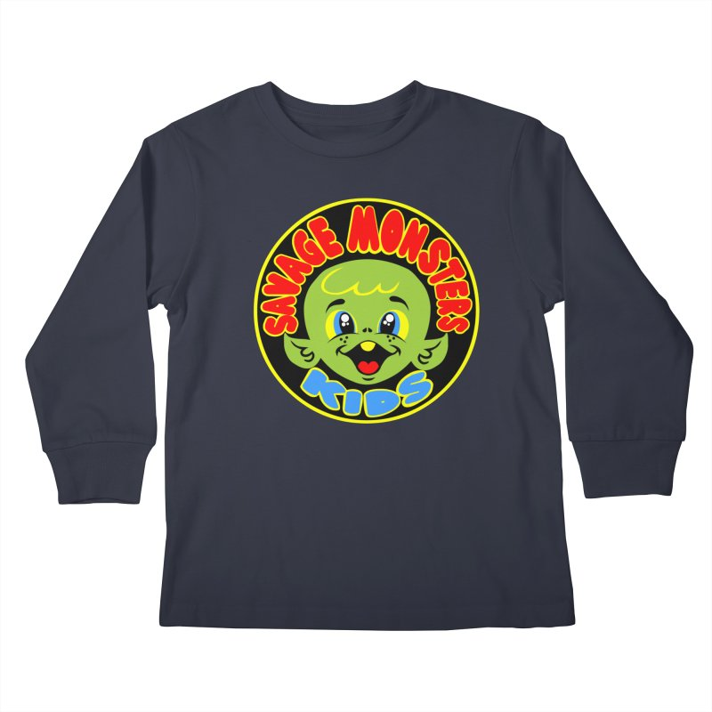 Savage Monsters Kids Logo Kids Longsleeve T-Shirt by SavageMonsters's Artist Shop