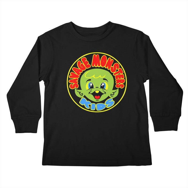 Savage Monsters Kids Logo Kids Longsleeve T-Shirt by SavageMonsters's Artist Shop