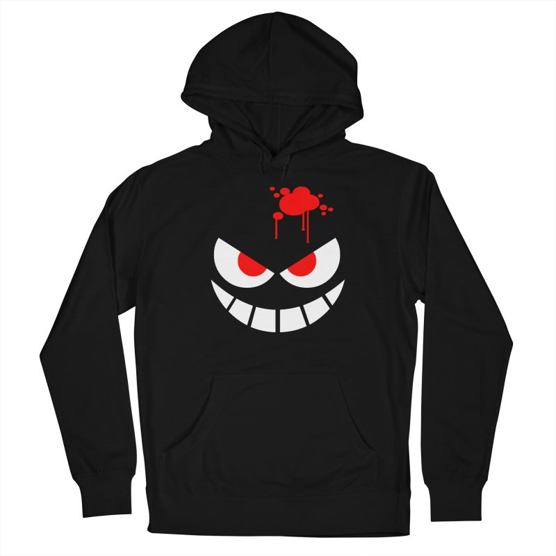 Bloody Grin Men's French Terry Pullover Hoody by SavageMonsters's Artist Shop