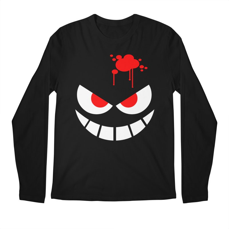 Bloody Grin Men's Longsleeve T-Shirt by SavageMonsters's Artist Shop