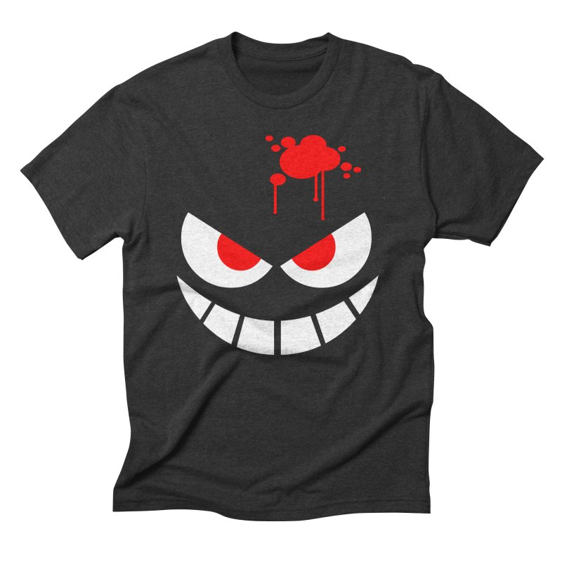 Bloody Grin Men's Triblend T-Shirt by SavageMonsters's Artist Shop