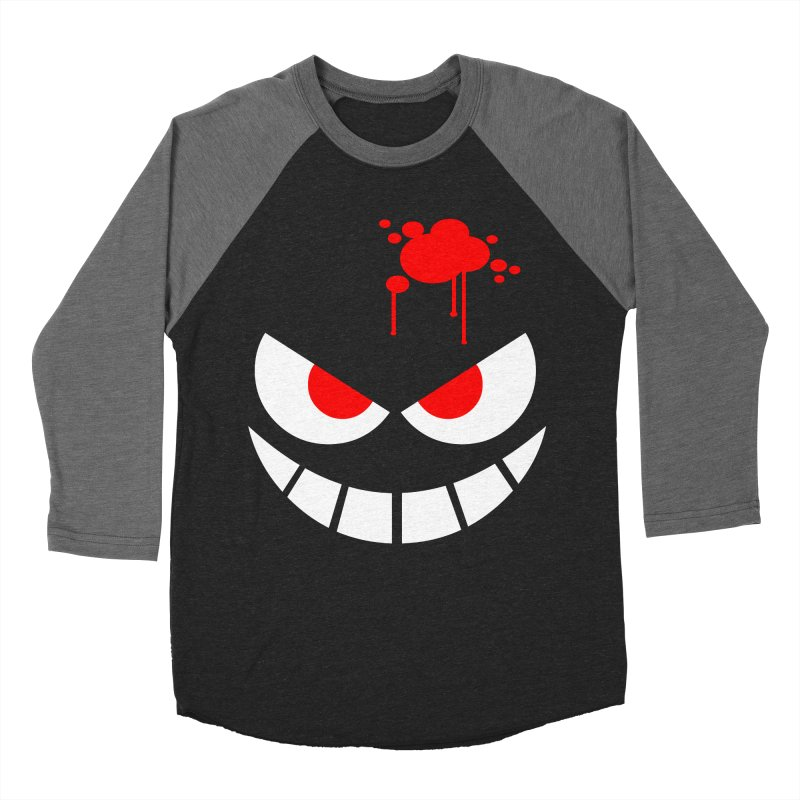 Bloody Grin Women's Baseball Triblend T-Shirt by SavageMonsters's Artist Shop
