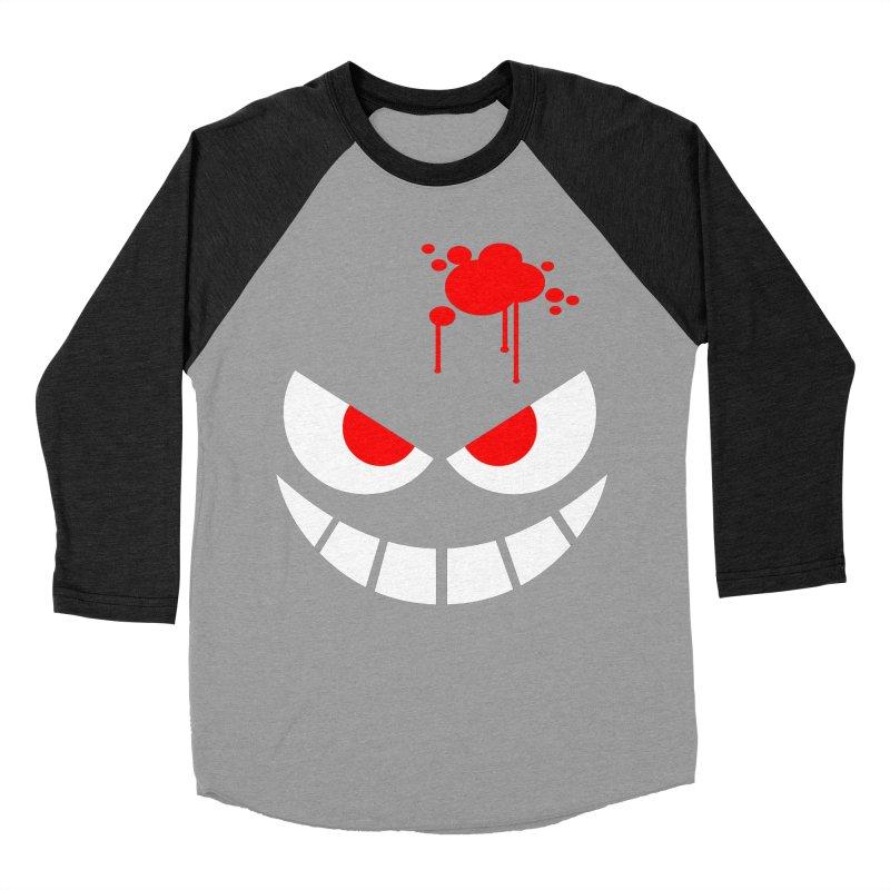 Bloody Grin Women's Baseball Triblend T-Shirt by SavageMonsters's Artist Shop