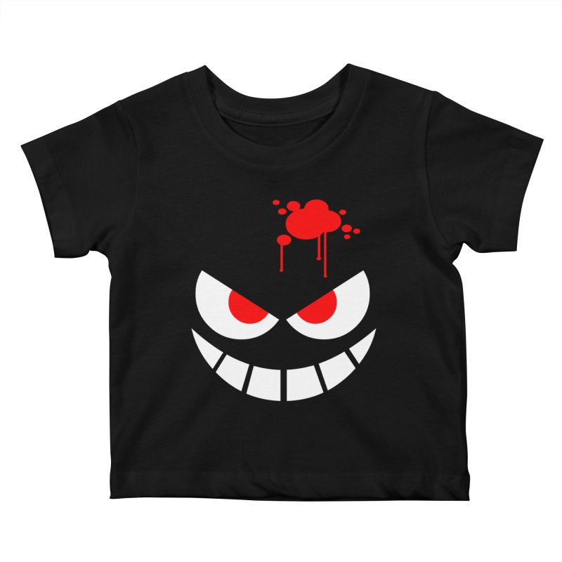 Bloody Grin Kids Baby T-Shirt by SavageMonsters's Artist Shop