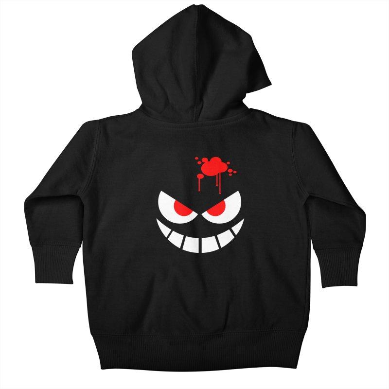 Bloody Grin Kids Baby Zip-Up Hoody by SavageMonsters's Artist Shop