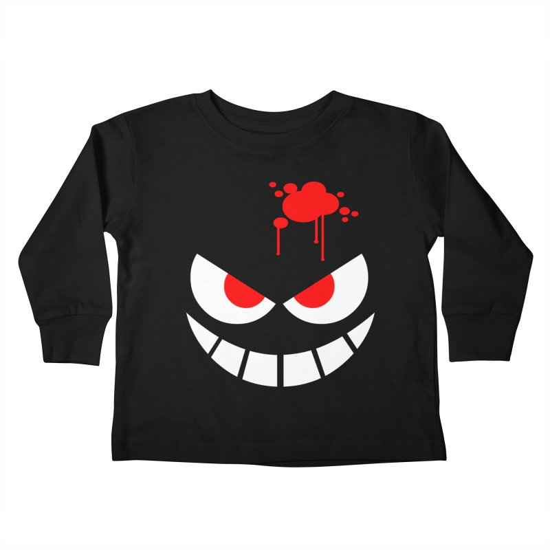 Bloody Grin Kids Toddler Longsleeve T-Shirt by SavageMonsters's Artist Shop