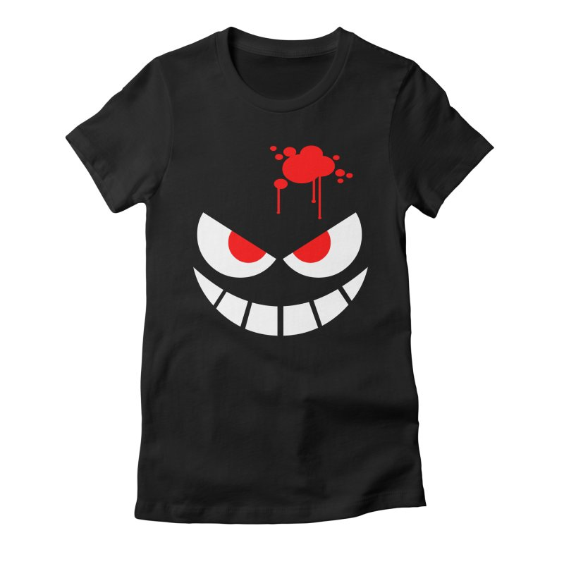 Bloody Grin Women's Fitted T-Shirt by SavageMonsters's Artist Shop