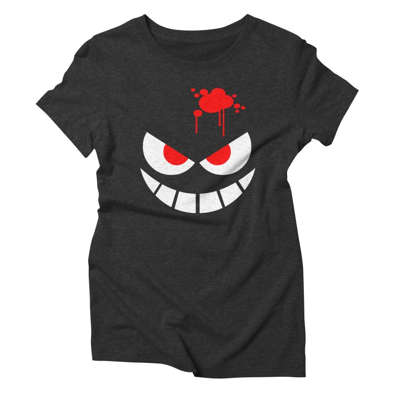 Bloody Grin Women's Triblend T-Shirt by SavageMonsters's Artist Shop